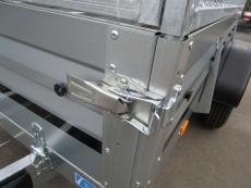 Brenderup 2260 S 1,3t 2,58x1,28m klappbare Vorderwand + PROFI-Gitter
