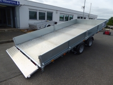Ifor Williams CT 167 kippbar+Bordwände ALUBODEN 4,87x2,25x0,35m 3,5t