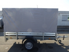 Brenderup 2260 Stahl 2,58x1,28m 750 kg + Hochplane 150 cm