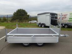 TANDEM KIPPER Alu + Handpumpe 260x150x30cm 750kg NEU !!!