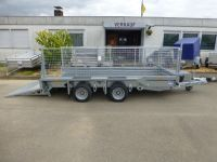 Ifor Williams GX 126 RAMPE + Gitter 366x184cm 3,5t