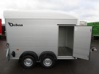 DEBON ALU-Poly-KOFFER C 500 Kombi-Heckrampe + Tür 100km/h 2t