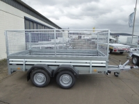 Brenderup 2300 S TANDEM 2,5 t  klappbare Vorderwand + Gitteraufsatz