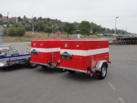 Feuerwehr Stahlblech-Kofferanhänger