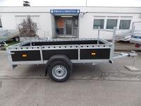 XL Plywood Anhänger 220 x130 x 40 cm Reling  zum SONDERPREIS!