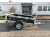XL Plywood Anhänger 200 x130 x 40 cm Reling  zum SONDERPREIS!