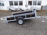 XL Plywood Anhänger KIPPBAR 200 x130 x 40 cm Reling  zum SONDERPREIS!