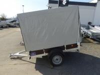 XL Plywood Anhänger 200x130x40cm + Reling Hochplane